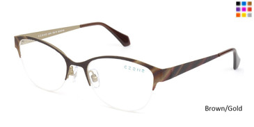 Brown/Gold C-Zone L2210 Eyeglasses.