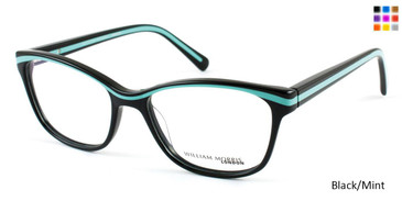Black/Mint William Morris London WM3510 Eyeglasses