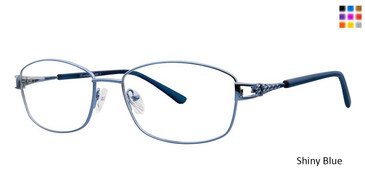 Shiny Blue Vivid Metaflex 1035 Eyeglasses.