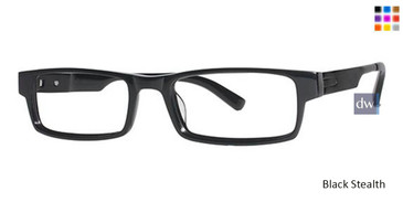 Black Stealth Wired 6017 Eyeglasses