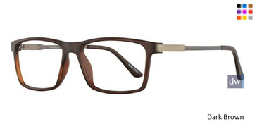 Dark Brown Wired 6054 Eyeglasses