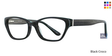 Black Croco Vavoom 8064 Eyeglasses