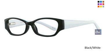 Black/Withe Parade Q Series 1742 Eyeglasses - Teenager