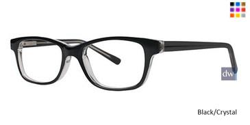 Black/Crystal Parade Q Series 1729 Eyeglasses - Teenager