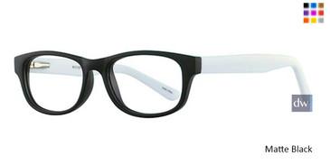 Matte Black Parade Q Series 1734 Eyeglasses - Teenager