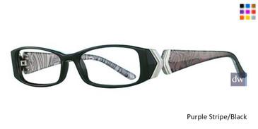 Purple Stripe/Black Parade Plus 2102 Eyeglasses