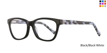 Black/Black  White  Romeo Gigli 77011 Eyeglasses