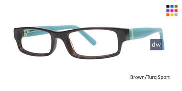 Brown/Turq Sport K12 4076