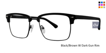 Black/Brown W Dark Gun Rim Vivid 257 Eyeglasses.