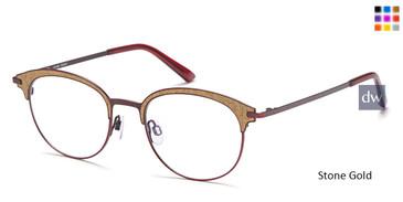 Stone/Gold capri AG 5026 Eyeglasses - Teenager.