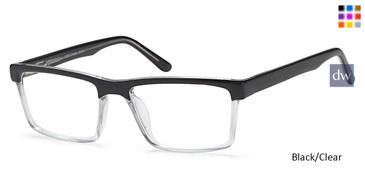 Black/Clear Capri US 83 Eyeglasses.
