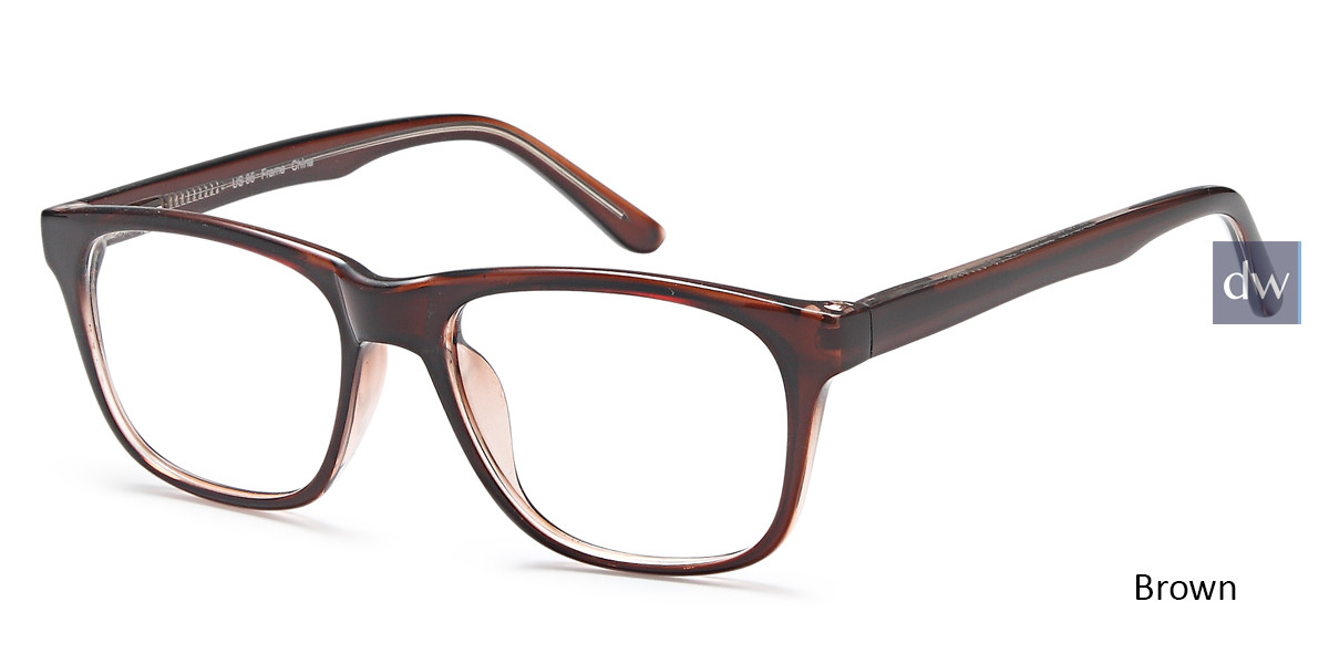 Brown Capri US 85 Eyeglasses.