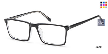 Black Capri US 86 Eyeglasses.