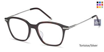 Tortoise/Silver Capri AGO 1006 Eyeglasses - Teenager.