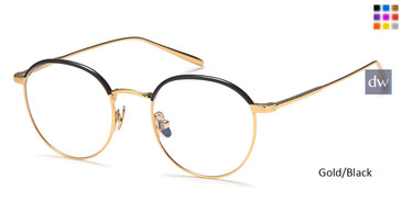 Gold/Black Capri AGO 1013 Eyeglasses - Teenager.