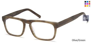 Olive/Green Capri B768 Eyeglasses.