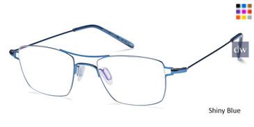 Shiny Blue Capri M4017 Eyeglasses - Teenager.