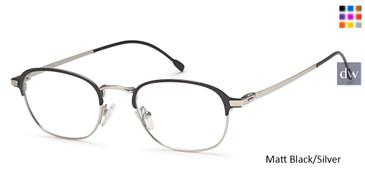 Matt Black/Silver Capri M4031 Eyeglasses- Teenager