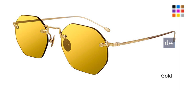 Gold John Varvatos V526 Sunglasses - Teenager