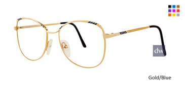 Gold/Blue Elan 153 Eyeglasses