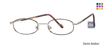 Demi Amber Elan 9074 Eyeglasses