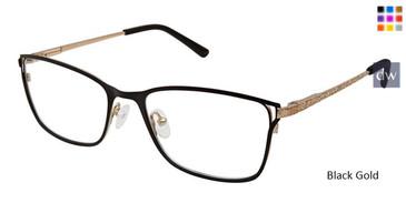 Black Gold Superflex Titan SF-1094T Eyeglasses.