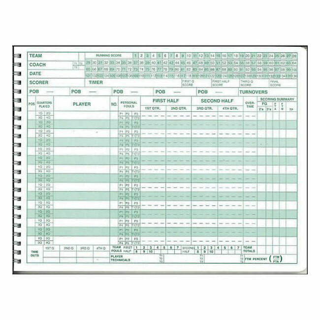 This is a graphic of Obsessed Printable Basketball Scorebook Sheets
