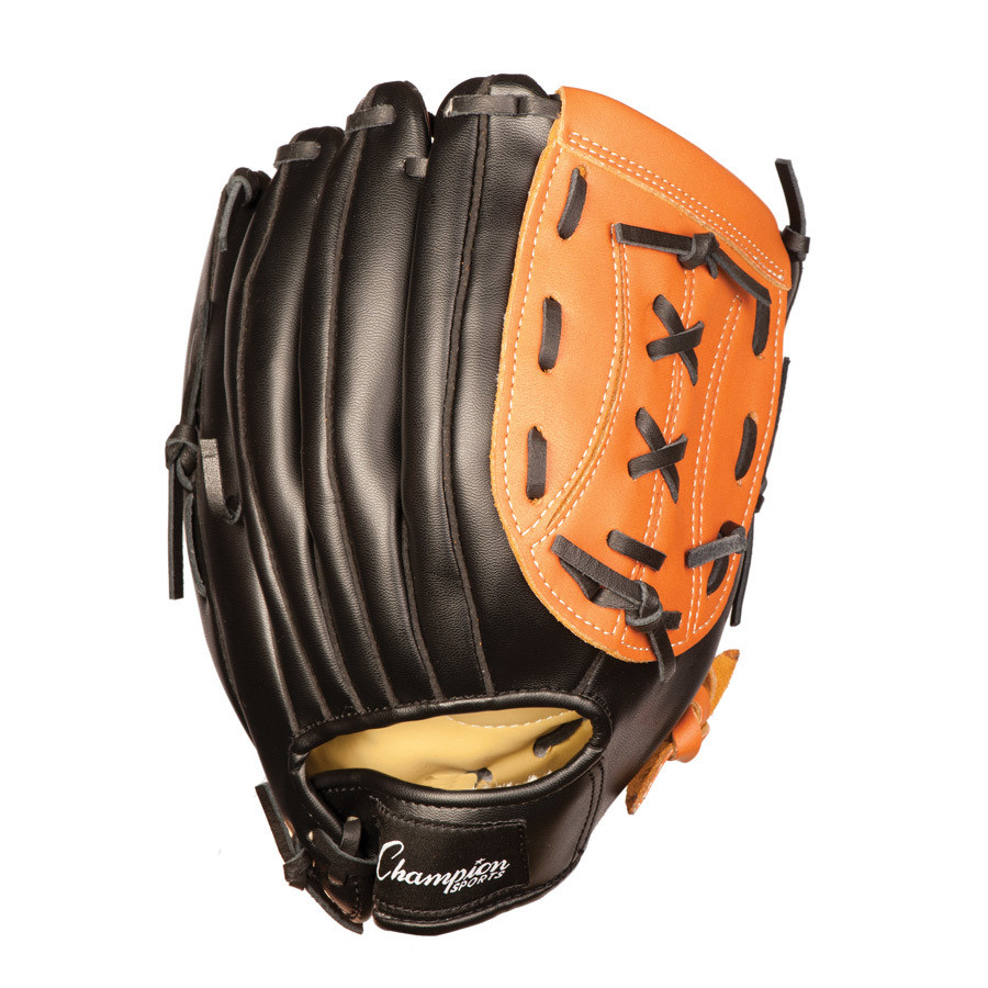 Youth Baseball Glove Leather : Champion sports quot leather youth fielders glove