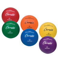 Champion Sports Rubber Volleyball Rainbow Set