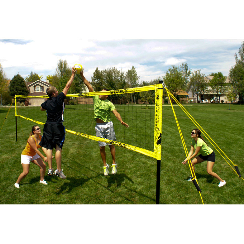 Park Amp Sun Spectrum Classic Outdoor Volleyball Net System