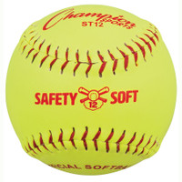 "Champion Sports ST12 12"" Safety Softballs - Dozen"