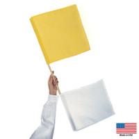 Yellow & White Umpires Flag