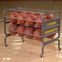 Bison Heavy-Duty Lockable 16 Ball Cart