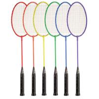 Champion Sports All Steel Badminton Racket Rainbow Set