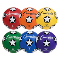 Champion Sports Rubber Rainbow Soccer Ball Set