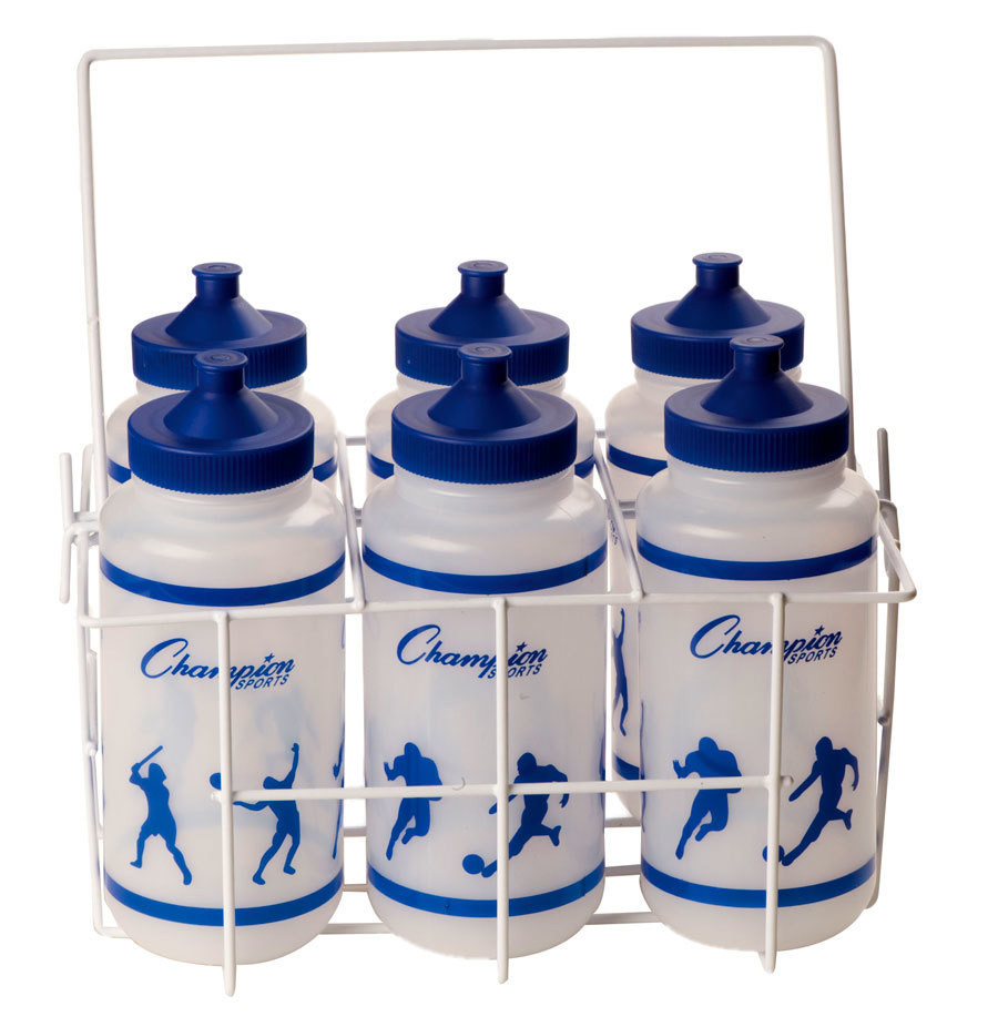 Water Bottle Set: Champion Sports Economy Water Bottle Set W/ Carrier