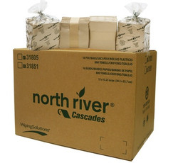 CSD31851   Paper Wipers North River Brown 50 Towels, Includes 800 Towels/Case
