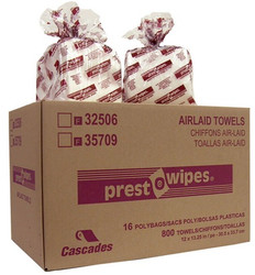 CSD32506   Wipers Presto-Wipes Airlaid 1/4 Fold 50 Towels, Includes 800 Towels/Case