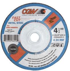 421-36263 | CGW Abrasives Fast Cut - Type 27 Depressed Center Wheels