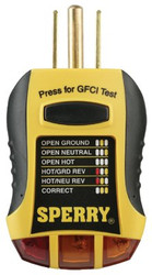 623-GFI6302 | Sperry Instruments GFCI Outlet Testers
