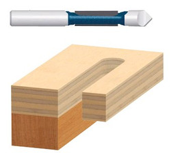 114-85244 | Bosch Power Tools Carbide-Tipped Pilot Panel Router Bit w/Drill-Through Points