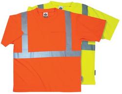150-21514   Ergodyne GloWear 8289 Class 2 Economy T-Shirts