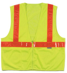 150-21345 | Ergodyne GloWear 8220ZHG Class 2 Standard Hi-Gloss Vests