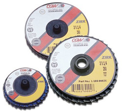421-30001 | CGW Abrasives Flap Discs, Mini, Zirconia, Quick Change, Type R