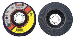 421-31185 | CGW Abrasives Flap Discs, Z-Stainless, Regular