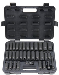 578-UW-533CDS | Blackhawk 33 Piece Deep Impact Socket Sets
