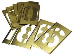 337-10160   C.H. Hanson Brass Stencil Gothic Style Number Sets