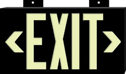 262-38098 | Brady Glo High Performance Glow-In-The-Dark Exit Signs