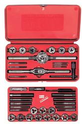 585-541614 | Irwin Hanson 39-pc Cut Thread Machine Screw / Fractional Tap & Adjustable Round Die Sets