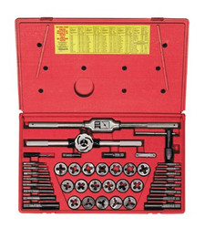 585-543715 | Irwin Hanson 41-pc Cut Thread Fractional Tap & Adjustable Die Sets